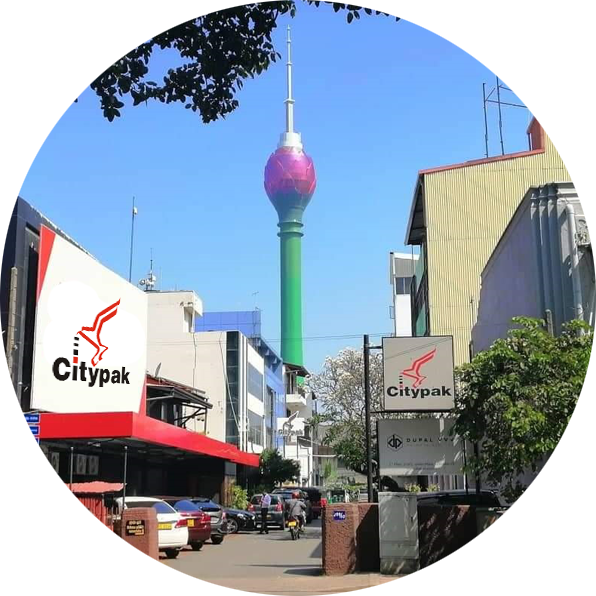 Citypak Head Office overlooking the city of Colombo